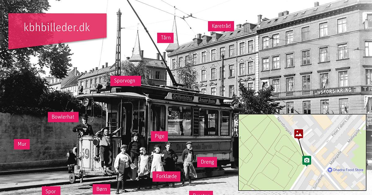 Ved at sætte emneord på fotografierne på kbhbilleder og på et kort angive præcist, hvor billederne er taget, kan du gøre det lettere for andre at søge og finde historiske fotos af København.