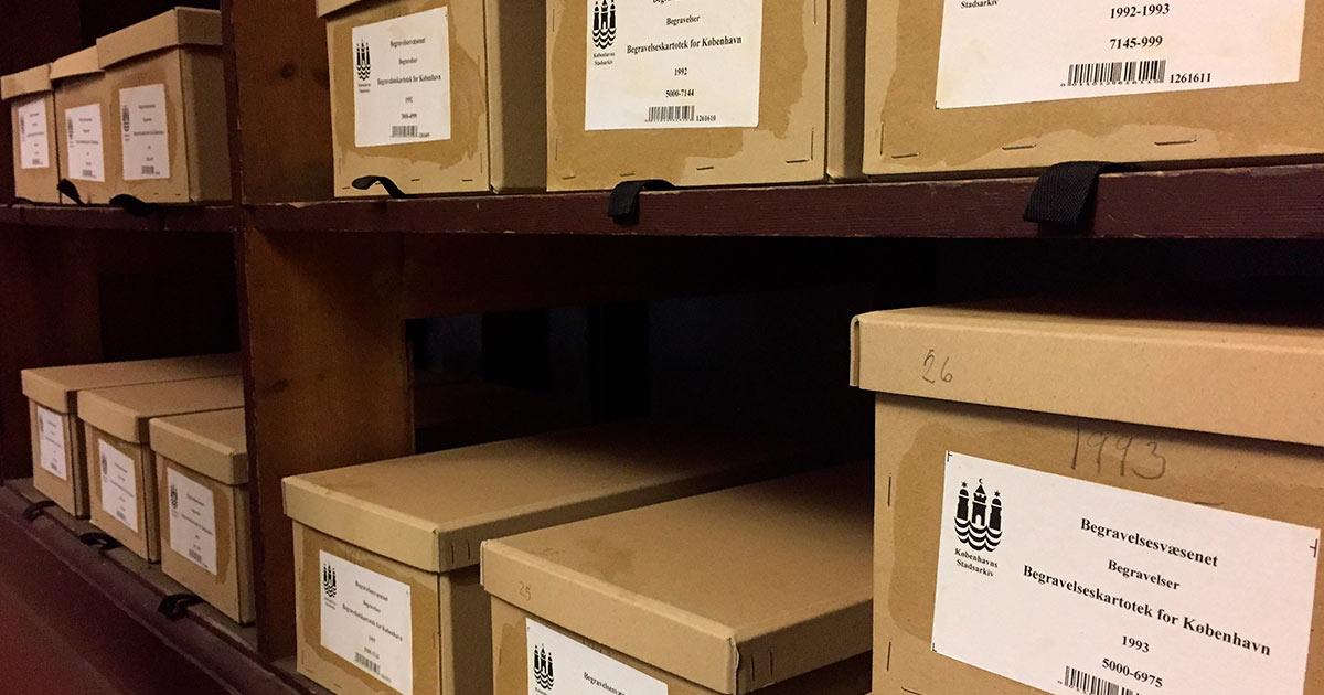 Efter 1969 ligger oplysninger om begravelser i København som kartotekskort og ikke som protokoller.