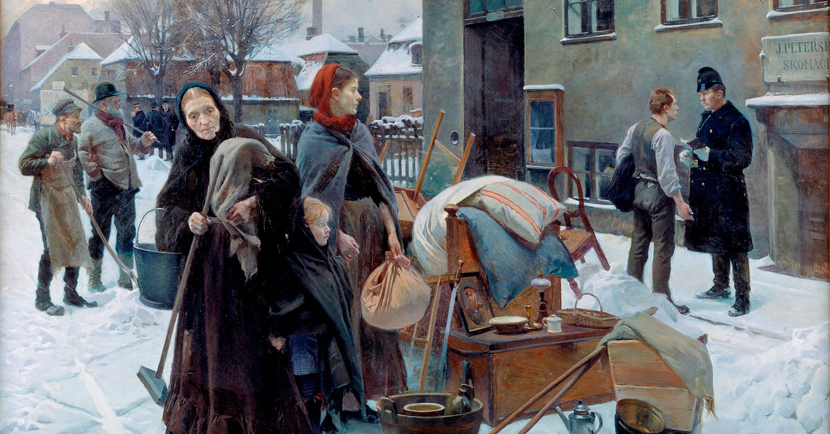 Udsnit af 'Sat ud', 1892. Maler: Erik Henningsen, SMK