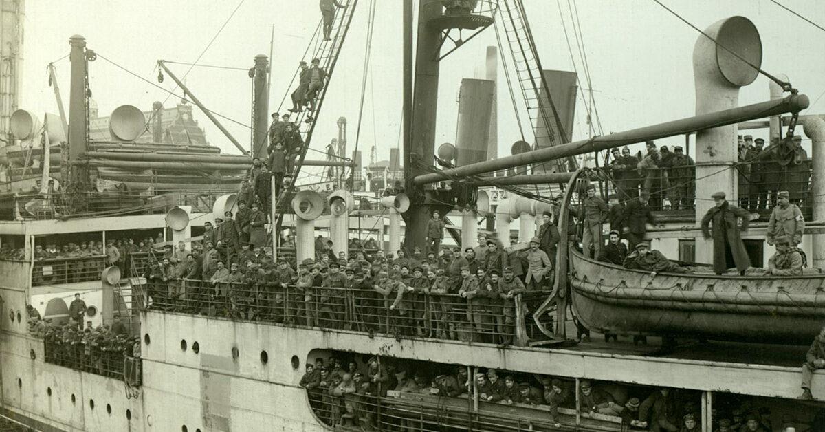 I erindringerne om 1. Verdenskrig er historier om krigsfanger, der kom til Københavns Havn.