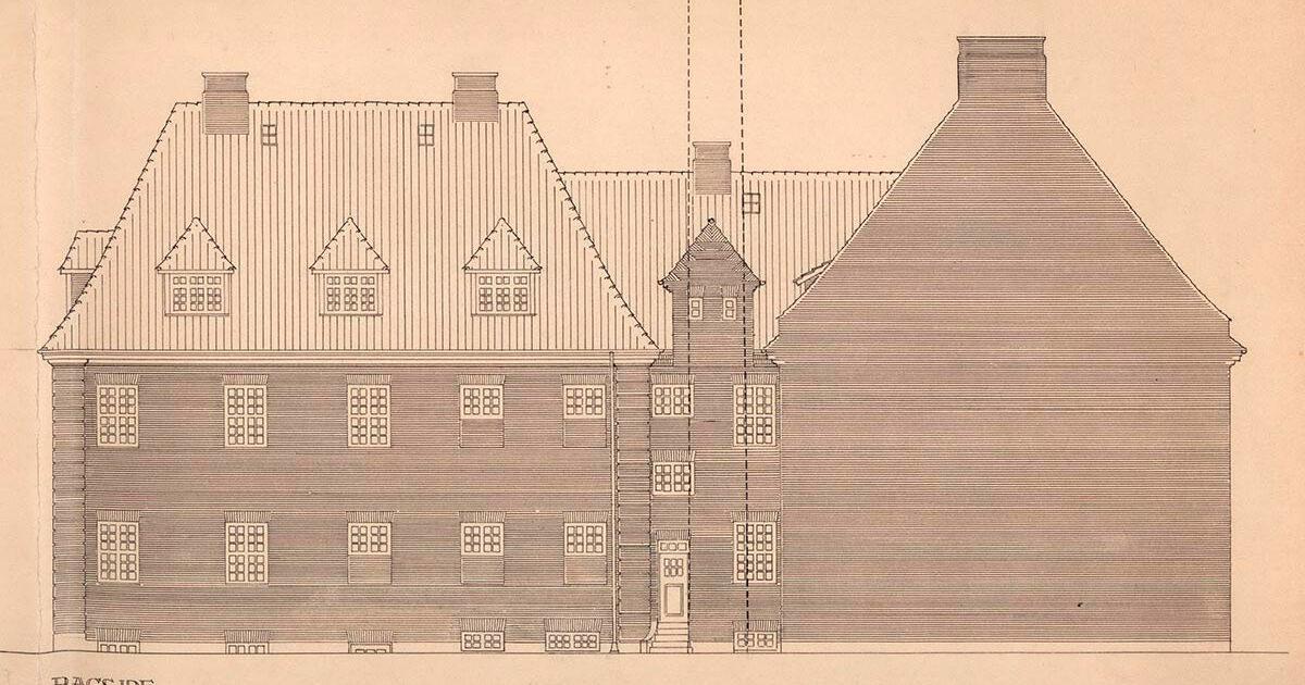 Tegning af Sjællandsgadebadet. Illustration: Københavns Stadsarkiv
