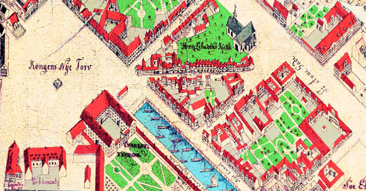 Farverekonstruktion af Geddes kort fra 1761