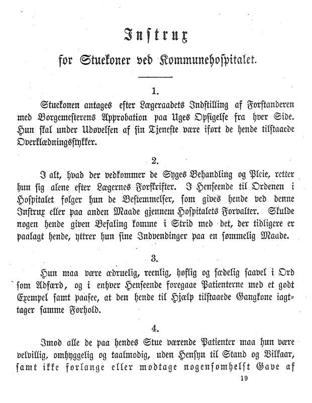 Stuekonens instruks fra 1863.