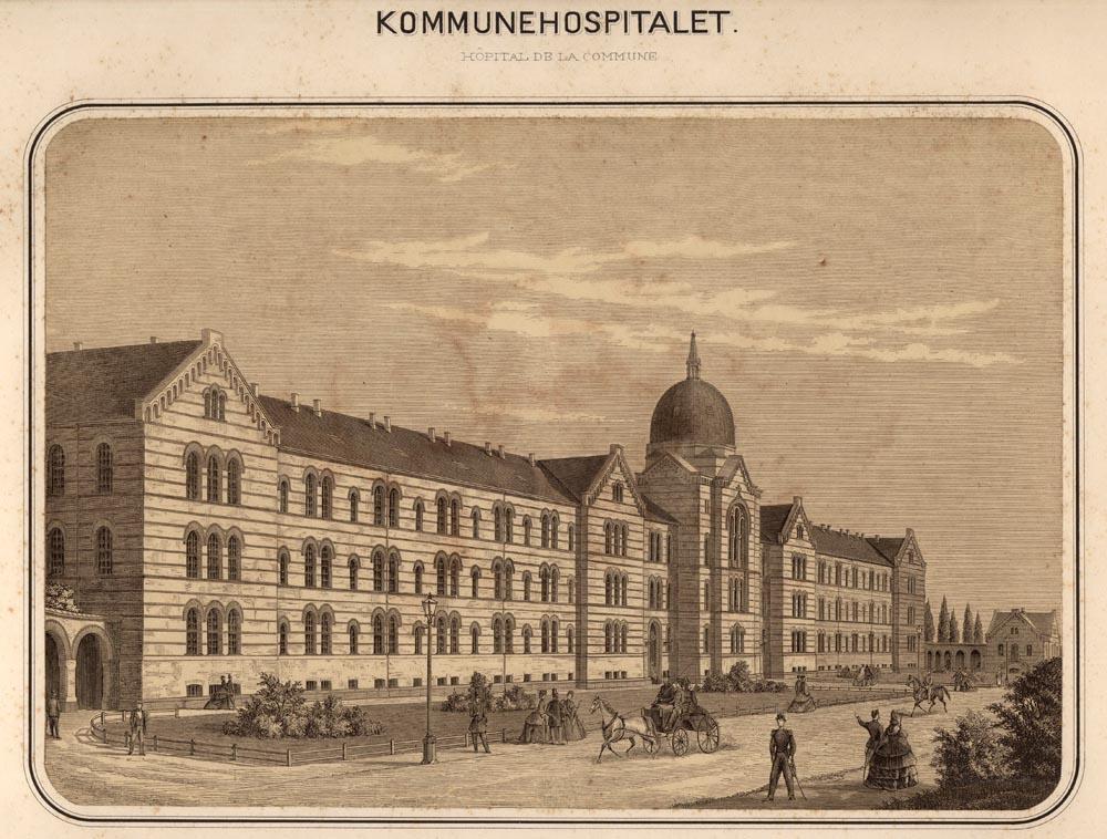 Kommunehospitalets facade, 1870