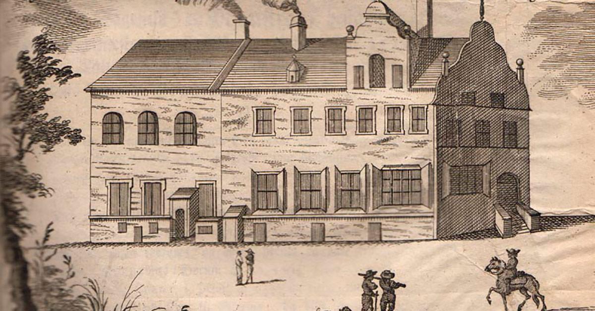 Det første rådhus som teologen Erik Pontoppidan forestillede sig, det så ud. Illustration Origines Hafnienses 1760.
