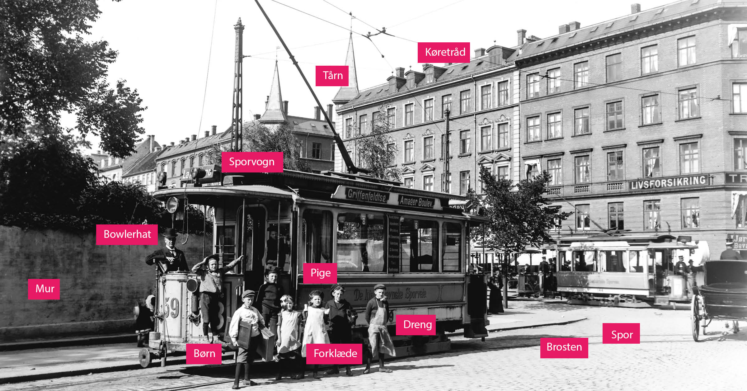 Det er muligt at zoome ind på alle kortene på kbhbilleder.dk og fordybe sig i mange spændende detaljer. Her er det kort over valgkredse i København i ca. 1900.