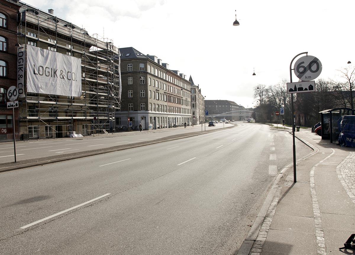 Ågade på stykket mellem Falkoner Allé og Åboulevard.Foto 2014: Mads Neuhard, Københavns Stadsarkiv