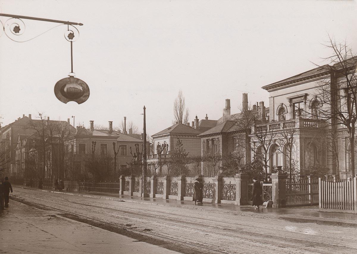 Alhambravej set fra Gammel Kongevej. Foto 1913: Ukendt fotograf, Københavns Museum