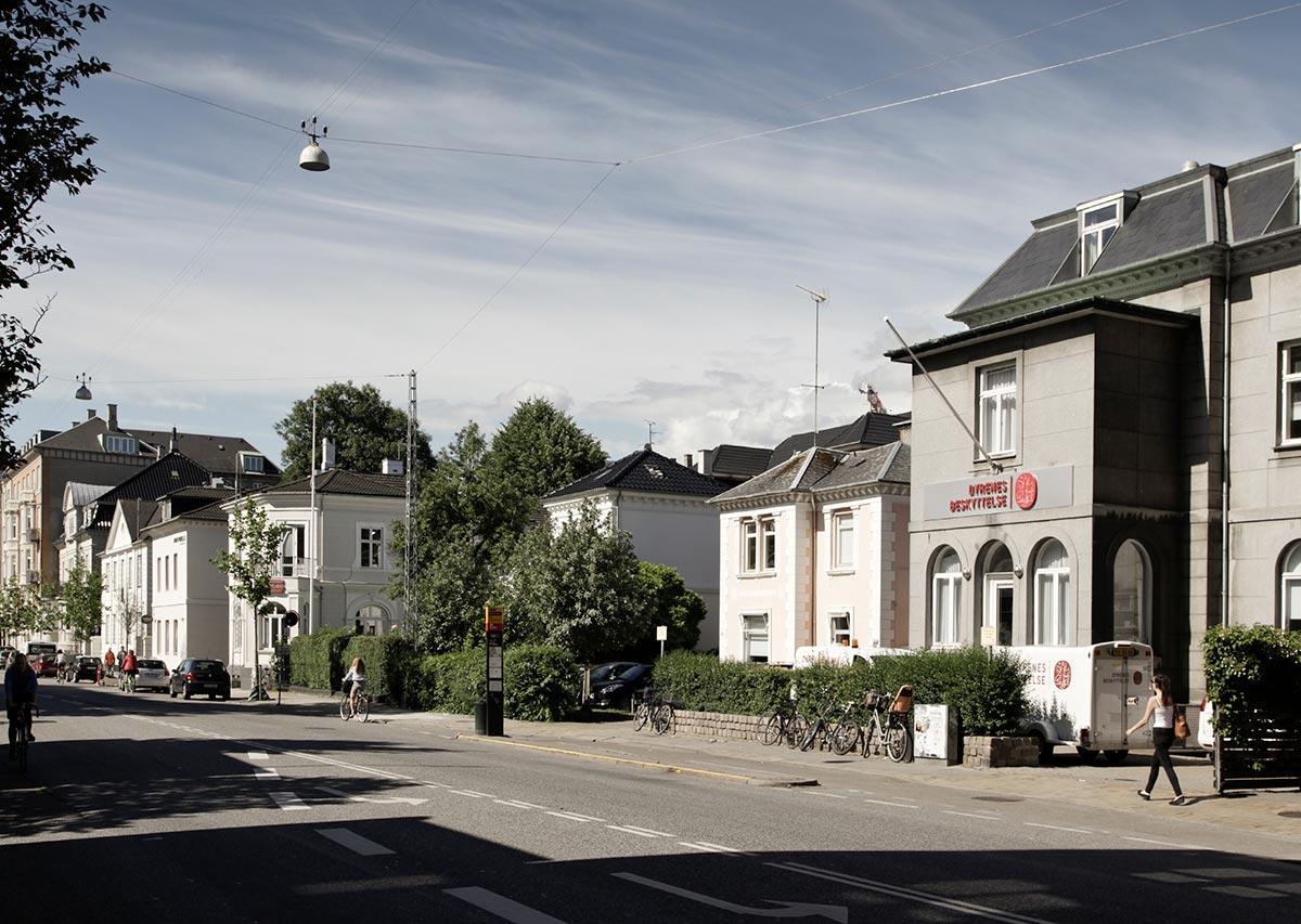 Alhambravej set fra Gammel Kongevej. Foto: 2014: Mads Neuhard, Københavns Stadsarkiv