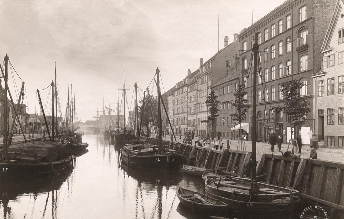 Christianshavns Kanal. Foto 1900: Johannes Hauerslev, Københavns Museum