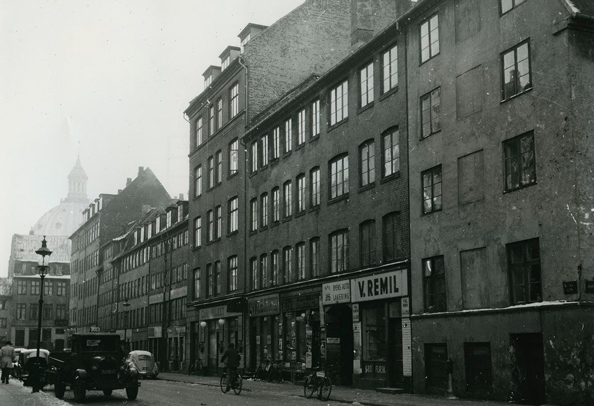 Klerkegade. Foto 1954: Ukendt fotograf, Københavns Stadsarkiv