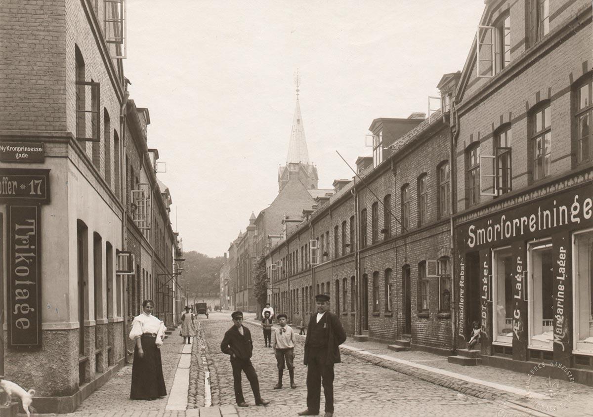 Krusemyntegade. Foto 1905: Joahnnes Hauerslev, Københavns Museum.