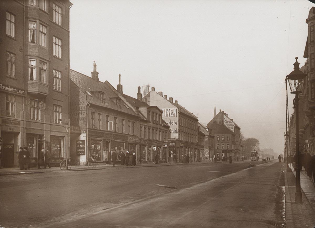 Østerbrogade. Foto 1913: Ukendt fotograf, Københavns Museum