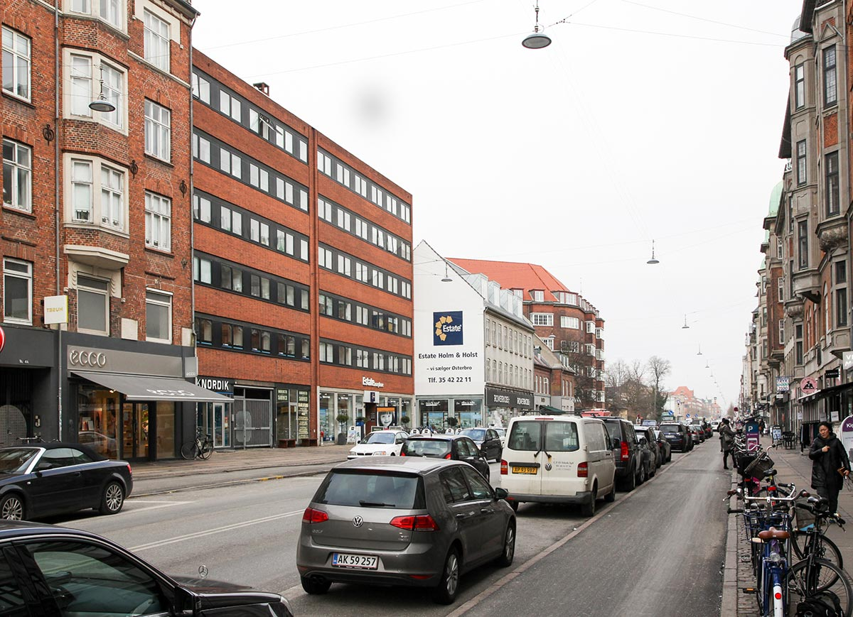 Østerbrogade. Foto 2016: Mads Neuhard, Københavns Stadsarkiv