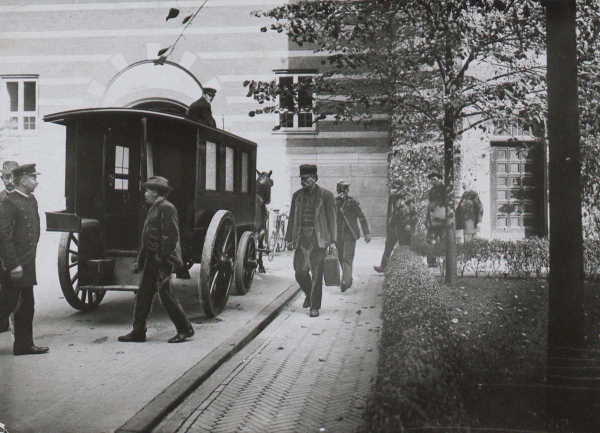 Rådhusgården. Foto 1907: Ukendt fotograf, Københavns Museum