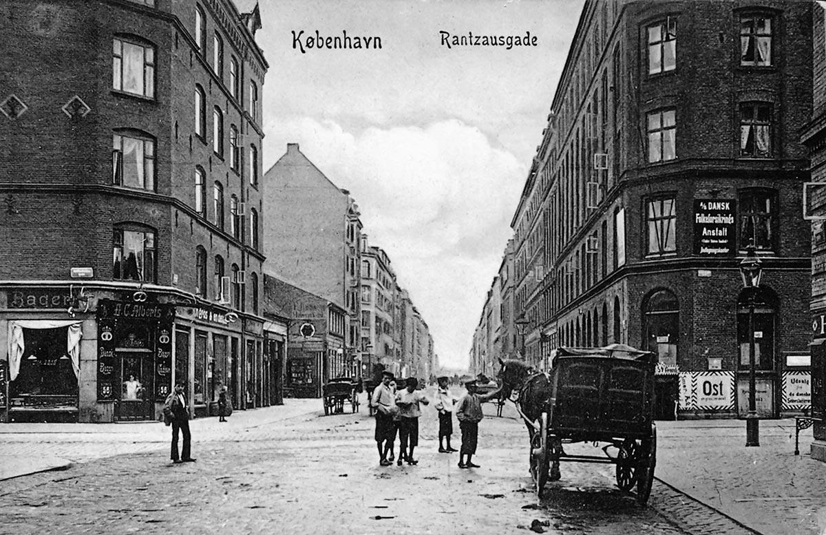 Rantzausgade. Foto omkring 1900-1910: Ukendt fotograf, Nørrebro Lokalhistoriske Forening og Arkiv