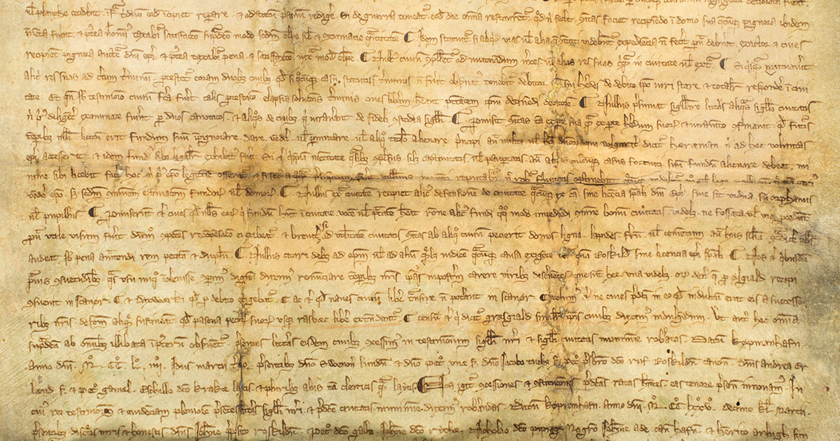 Håndskrift fra middelalderen