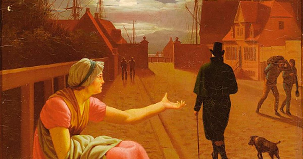 En falden piges historie. Maleri af C.W.Eckersberg, 1808.